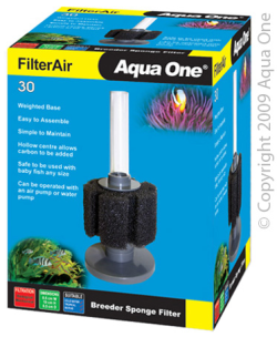Aqua One Filter Air 30 Breeder Sponge Filter|