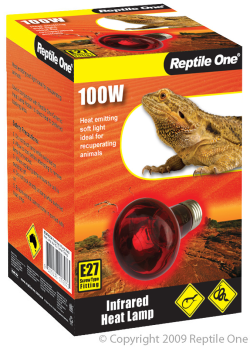 Reptile One Infrared Heat Lamp 100W|