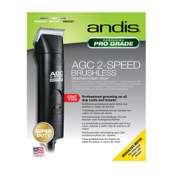 Andis AGC 2 Speed Brushless Motor Professional Pet Clipper Black|