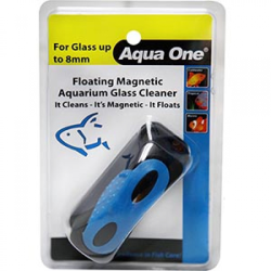 Aqua One Floating Magnet Cleaner Medium for up to 8mm Glass|