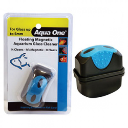 Aqua One Floating Magnet Cleaner Small for up to 5mm Glass|
