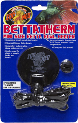 Zoo Med Bettatherm Mini Size Betta Bowl Heater|