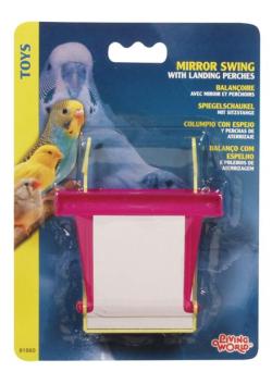 Pet Shop Direct - Living World Bird MIRROR SWING w/Landing