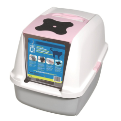 Catit Clean Hooded Cat Litter Pan Pink|