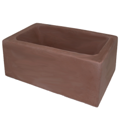 Concrete Dog Bowl Rectangle Choc|