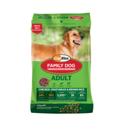 CopRice Family Dog Food with Chicken, Vegetables & Brown Rice 20kg|