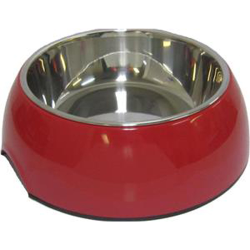 Dog 2-in-1 Melamine Dog Bowl Red 700mL|
