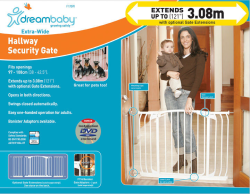 Dream Baby Chelsea Extra Wide Hallway Security Gate|