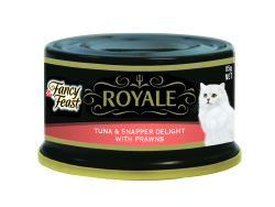Fancy Feast Royale Tuna Snapper Delight with Prawns 85g x 24 (Case)|