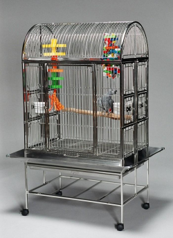 Featherland Stainless Steel Parrot Cage Large 24-36|