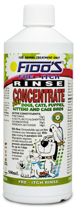 Fidos Fre Itch Rinse Concentrate 500mL|