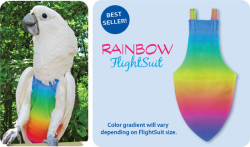 Flight Suit Bird Diaper - Jr Small, Rainbow|