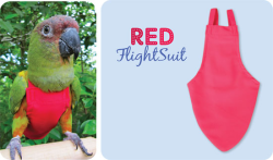 Flight Suit Bird Diaper - Wide, Red|