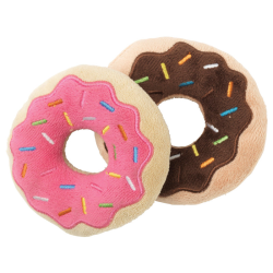 FuzzYard Dog Toy Donuts 2 Pack|