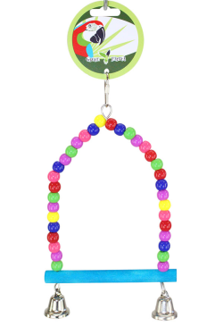 Green Parrot Bird Toy BEAD SWING SMALL|