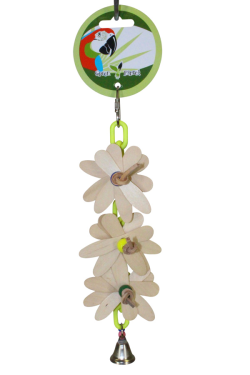 Green Parrot Toy DAISY CHAIN|Bird Toy, Parrot Toy