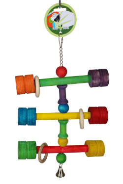 Green Parrot Toy DUMBELLS|Bird Toy, Parrot Toy