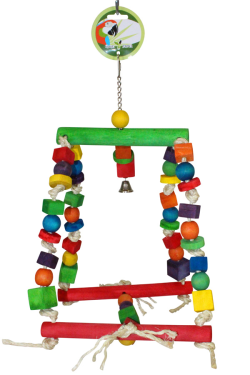Green Parrot Toy SUPER SWING|Bird Toy, Parrot Toy