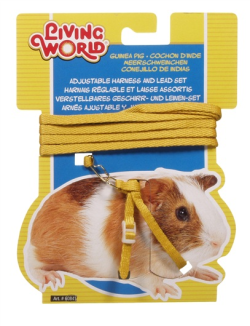 Living World Guinea Pig Harness & Lead Set Yellow|