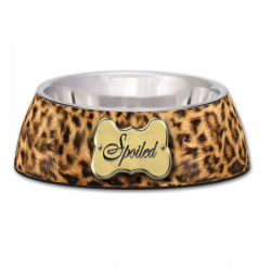 Loving Pets Milano Collection 2-in-1 Spoiled Leopard Print Bowl Small 235mL|