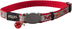 Rogz ReflectoCat Red Fish Cat Collar Small|