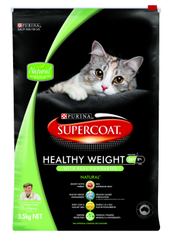 Supercoat Adult Cat Healthy Weight Kangaroo 3.5kg|
