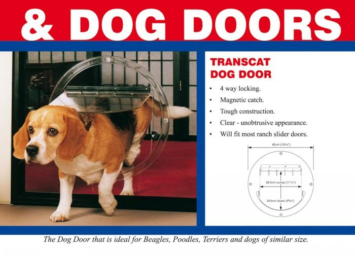 Pet Shop Direct Transcat Dog Door Clear