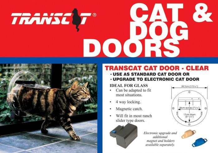 Pet Shop Direct - Transcat Cat Door Clear