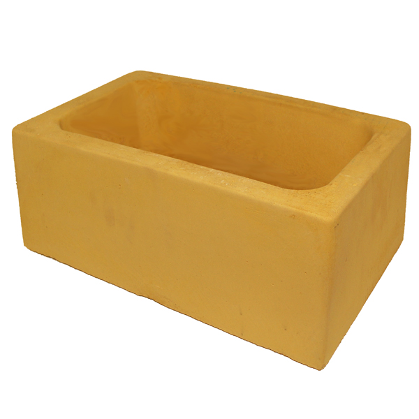 Concrete Dog Bowl Rectangle Sandstone