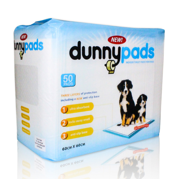 Dunny Pads Anti Slip Puppy Training Pads 50 Pack X 4 Bulk