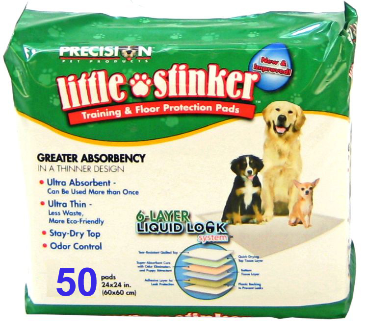 Little Stinker Puppy Training Pads 50 Pack