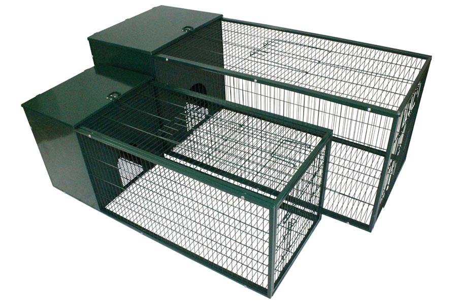 Pet Shop Direct Metal Rabbit Hutch 4 Foot Dark Green