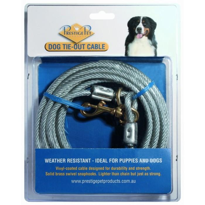 Pet Shop Direct Prestige Pet Dog Tie Out Cable 6m X 4 8mm
