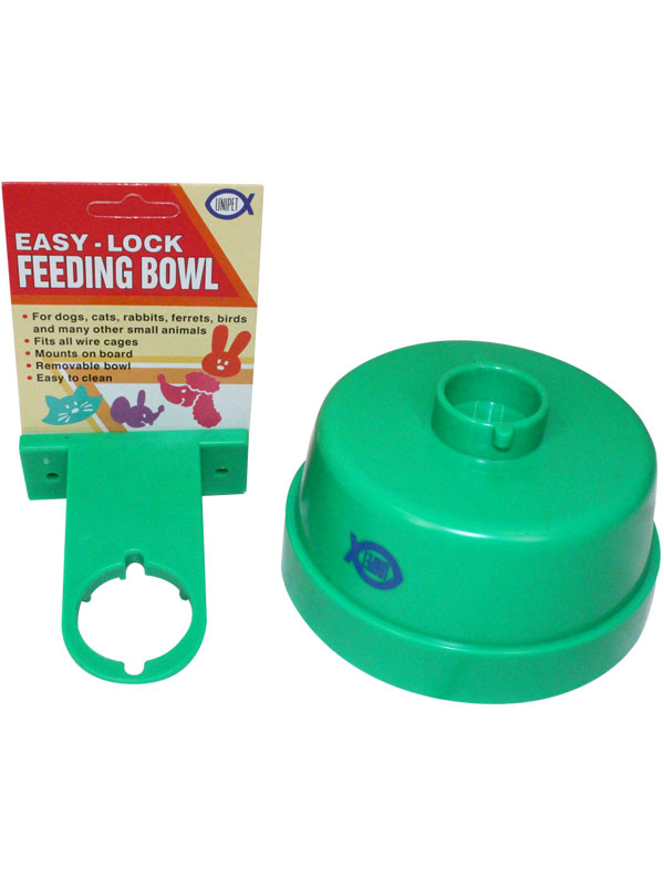 Pet Shop Direct Unipet Easy Lock Cage Crock Bowl Large 600ml